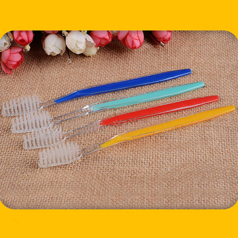 5pcs/set Disposable Plastic olorful Soft Teeth Brush Toothbrush Hotel Travel Wash Tooth Brush Set