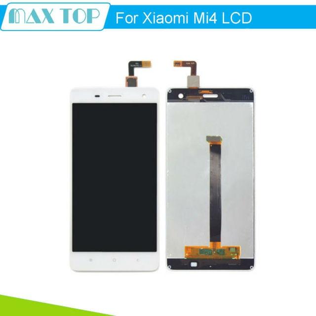 Для Белый Xiaomi Mi4 ЖК-Дисплей + Сенсорный Экран + 100% Новый Замена Ассамблея Для M4 Мобильный Телефон + Бесплатная доставка