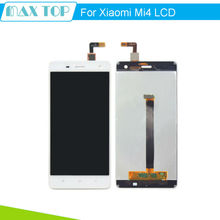 For White Xiaomi Mi4 LCD Display + Touch Screen + 100% New Assembly Replacement For M4 Mobile Phone + Free Shipping
