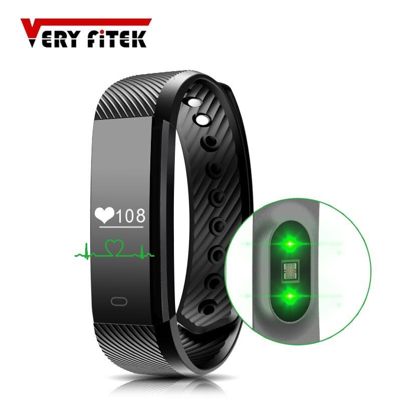 ID115 HR Smart Armbänder Herz Rate Monitor Smart Armband Fitness Tracker Smartband Wasserdichte Schrittzähler für Telefon Bluetooth