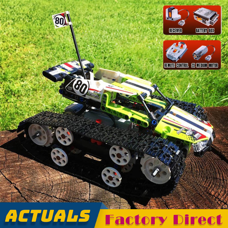 Motorized Remote controlled Vehicle 20033 Tracked Racer Car Technic Building Blocks Motor Competition Toys Compatible 42065