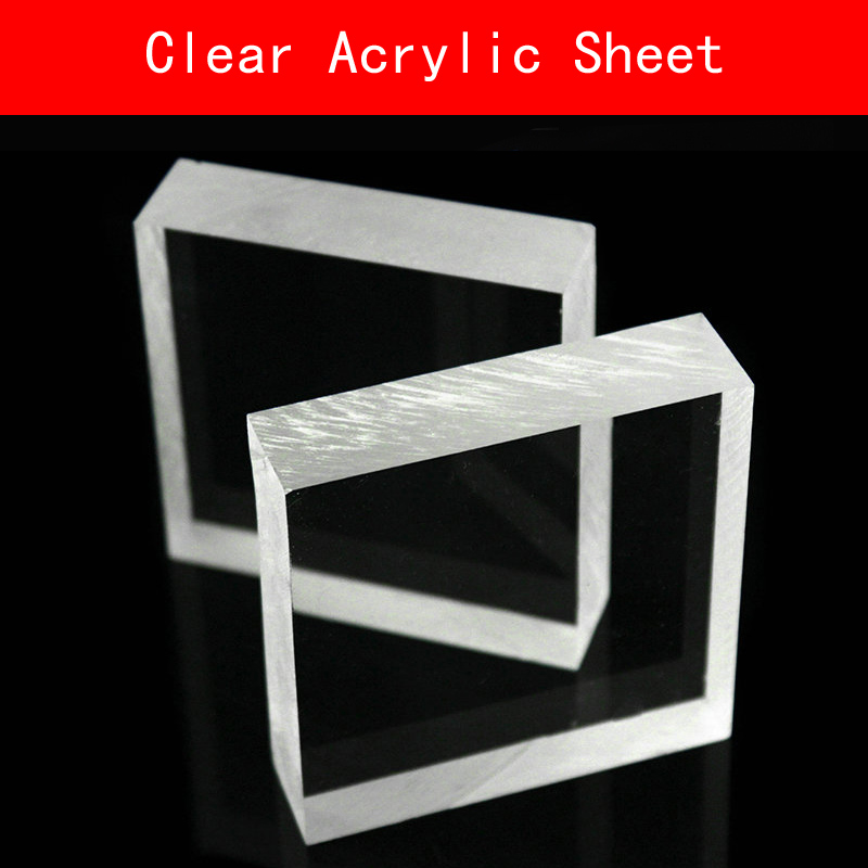 Clear Acrylic Perspex Sheet PU Plastic Panel Transparent Sawn Cut Panels Shatter Resistant Clay Heavy Wallthickness for DIY Use