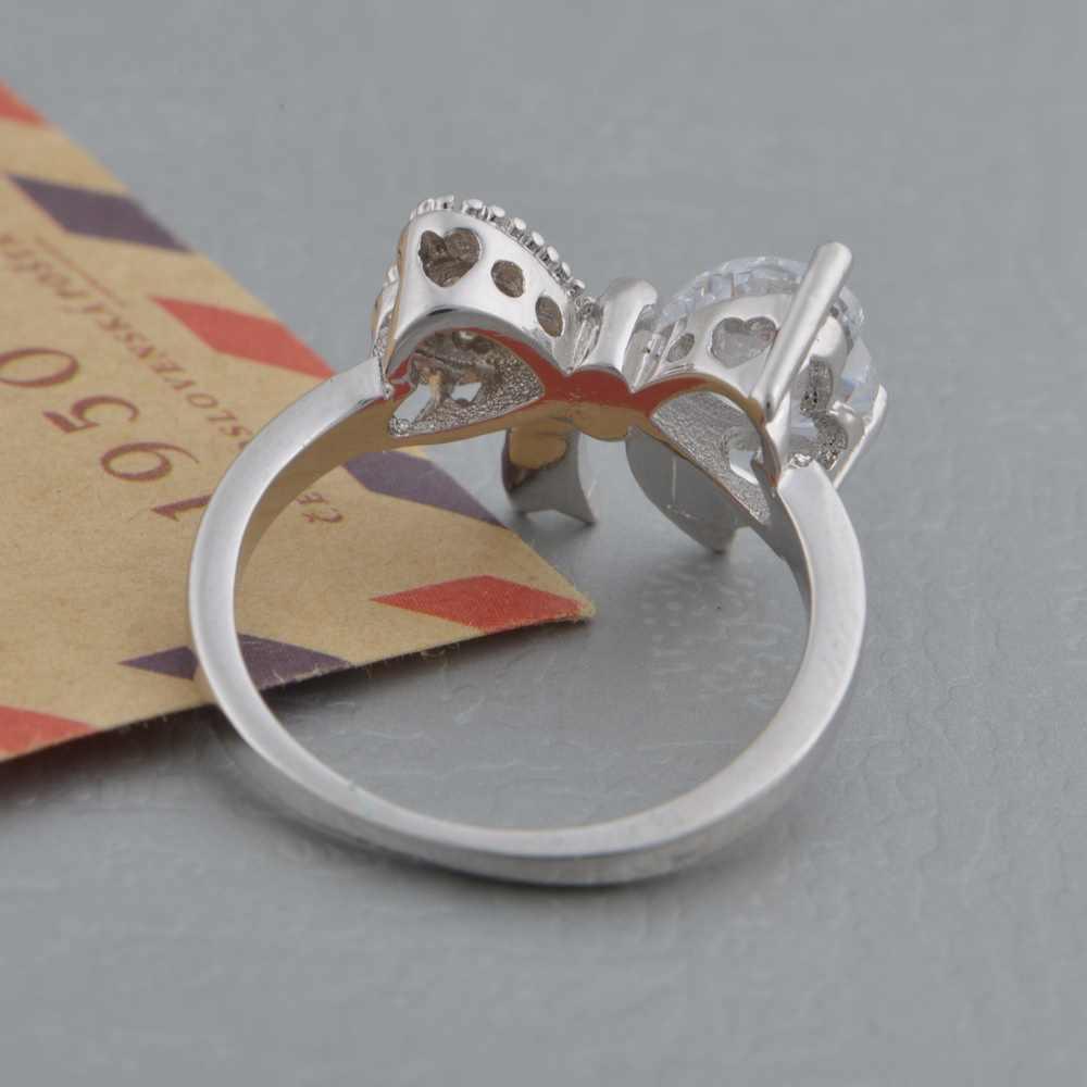 זוג חדש 925 vashiria נחמדים מצופה זהב אופנה טבעת 925 cz תכשיטי ניס טבעת הנישואין j612