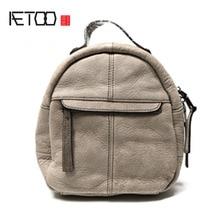 Aetoo новая модная кожаная сумка на плечо кожаный рюкзак простой мини женская сумка