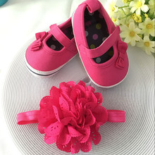 Kids flowers Shoes  Girl Princess Lace Headband Cute Infant Girl Toddler Shoes Set Newborn Photography Props 5TX19