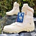 De los hombres Militares de Camuflaje Del Desierto Botas Tácticas de Cuero Genuino Hombres Botas de Combate del Ejército Botas Militares Al Aire Libre Sapatos Masculino