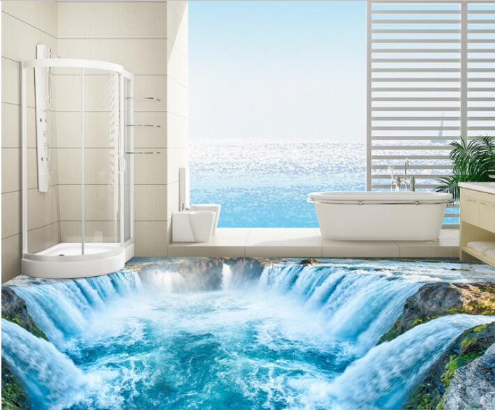 3 d pvc flooring custom waterproof self adhesion water falls 3 d bathroom flooring murals photo 3d wall murals wallpaper