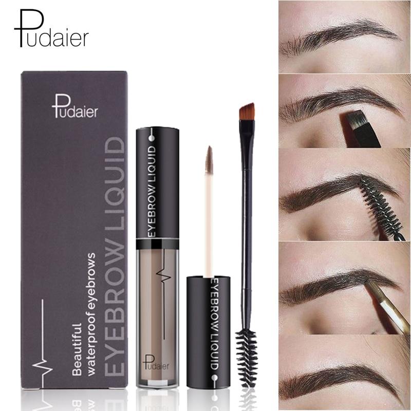 Pudaier New Brand Eye Brow Tint Cosmetics Natural Long Lasting Paint Eyebrow Waterproof Black Brown Eyebrow Pencil Gel Makeup
