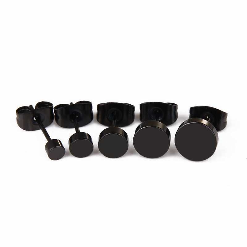Cheap-1pc-Wild-Fashion-Hot-Round-Black-Titanium-Stud-Earrings-Dumbbell-Stainless-Steel-Earrings-Korean-Women (2)
