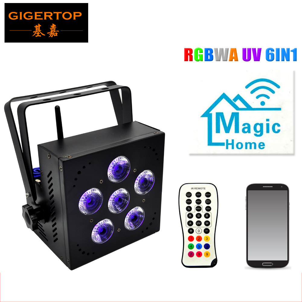 TIPTOP Stage Light TP-G3043-6IN1 6pcs 18W 6in1 RGBAW UV High-brightness 6IN1 LED Battery Light 2.4G