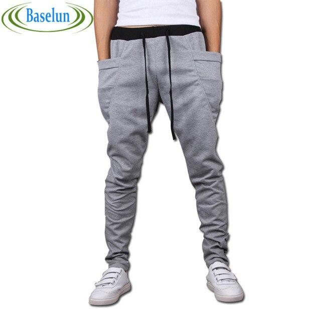 Sarouel багги конические бандана брюки hip hop танцы гарем тренировочные брюки падение промежность брюки мужчины паркур конические брюки