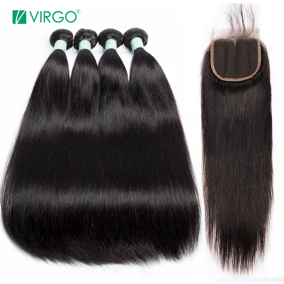 3/4 Bundles With Closure Alipearl Hair Straight Human Hair 3 Bundles With 5x5 Closure Brazilian Hair Weave Bundles Natural Color Remy Hair Extension Complete In Specifications