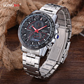 2017 Top Luxury Brand Watches Men Fashion Casual Quartz-Watch Men Stainless Steel Waterproof Watches Relogio Masculino 80132