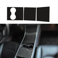 3D Carbon Fiber Protection Styling Car Sticker Kit Center Console Dashboard Self Adhesive Film Dustproof For Tesla Model 3