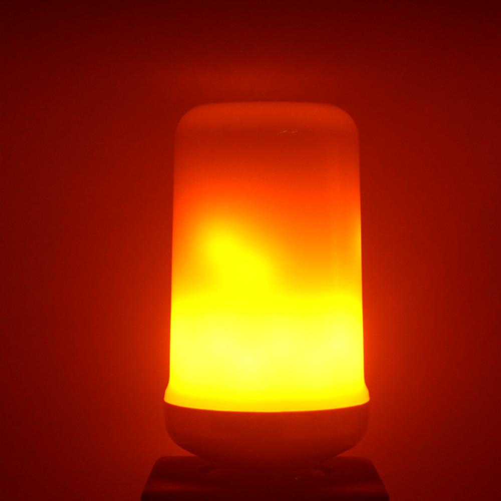 Image 5 - Full Model 3W 5W 7W 9W E27 E26 E14 E12 Flame Bulb 85 265V LED Flame Effect Fire Light Bulbs Flickering Emulation Decor LED Lamp-in LED Bulbs & Tubes from Lights & Lighting