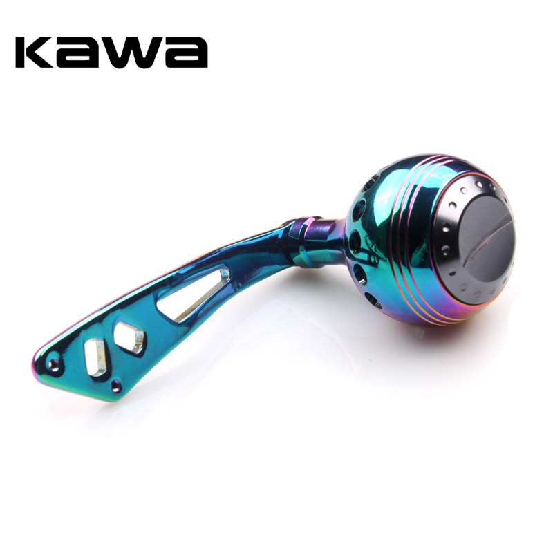 Kawa Rainbow Color Fishing Reel Handle Aluminum Alloy Fishing Rocker High Quality Very B ...