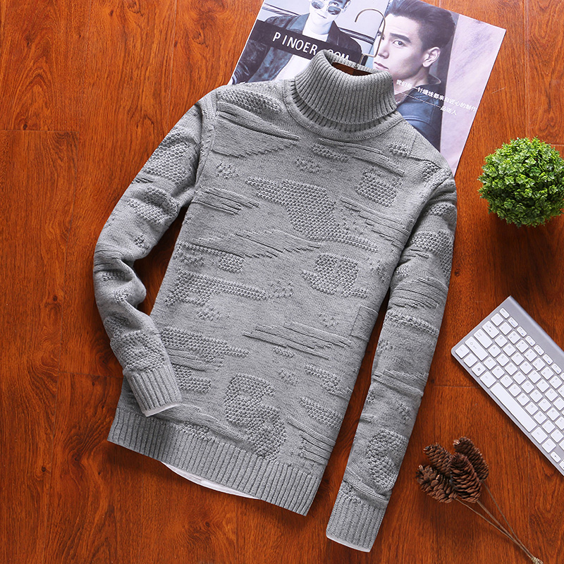 2019 Pullovers Mens Sweaters Turtleneck Autumn Winter Long Sleeve For Sweater Men 100% Cotton And Sweaters Casual Man M-3XL