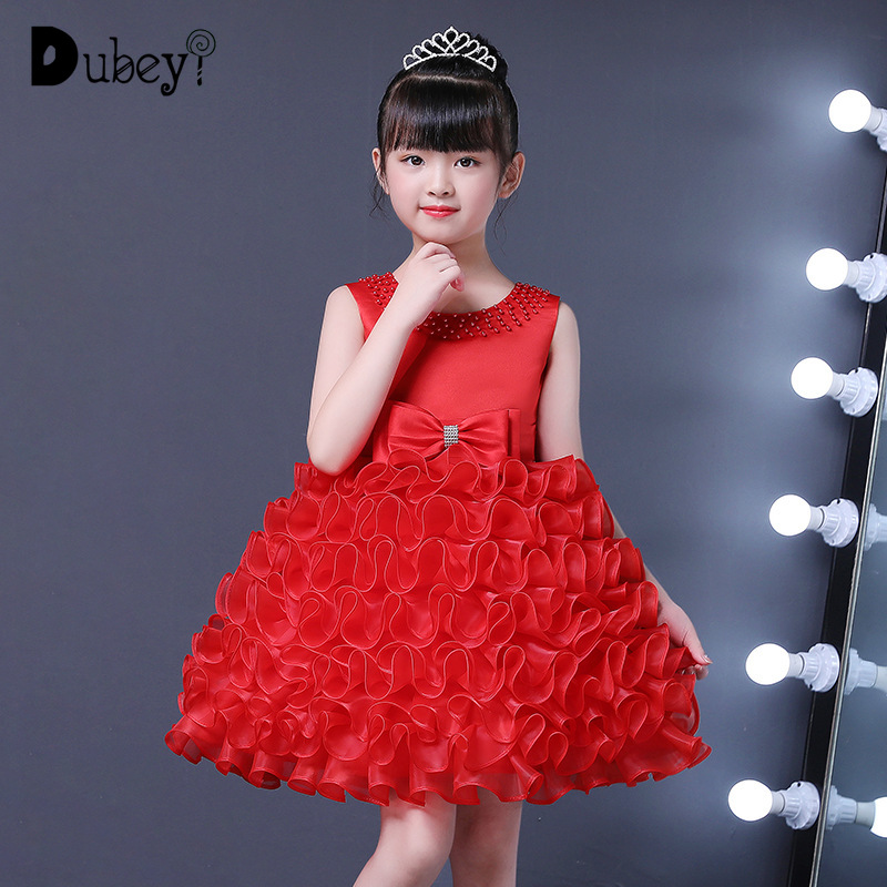 Summer Girl Princess Tutu Wedding Dress Elegant Party Ball Gowns for Girls New Fashion Costume