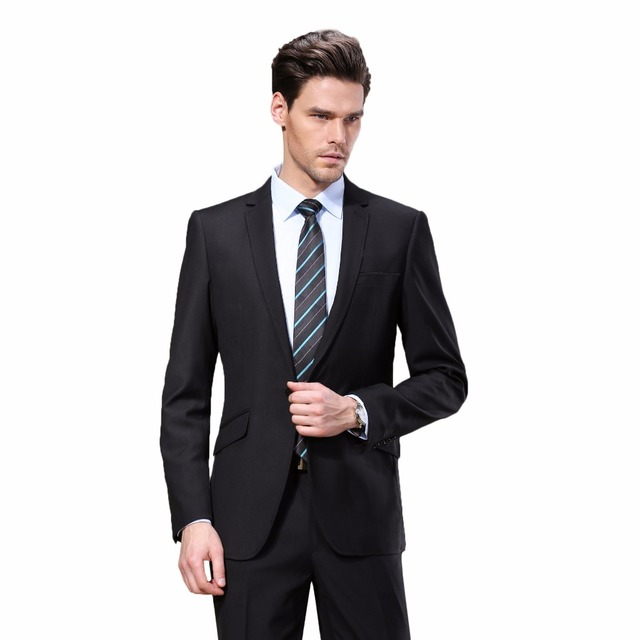 2016 Western style Black Color Men Business Suits Brand Boss Suit For Men's Wedding Groom blazers Tuxedos DR88602-1#