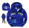 2015 new arrival fashion zipper casual hooded jackets kids coats children boys blue Thomas locomotive best quality Sweatshirts