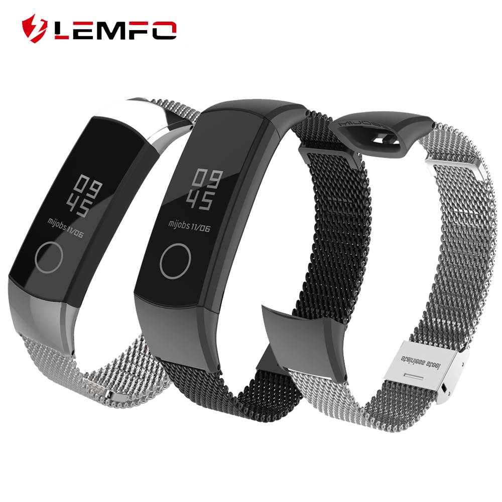 LEMFO Replace Watchband Strap Bracelet Smart-Accessories Milanese Metal Stainless-Steel