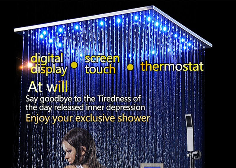 Bathroom 3 Ways Shower Sets Intelligent LCD Digital Concealed 20 SPA Mist Thermostatic LED Smart Shower Set Touch Panel Mixer (1)