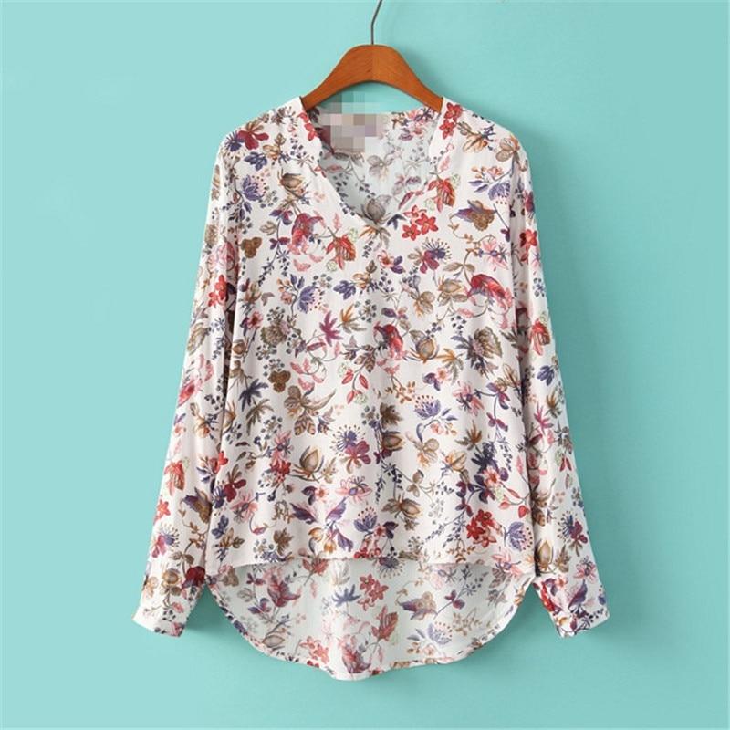 blouse boho womens shirts plus size gothic print tops korean clothes fashion new girls v-neck vintage clothing streetwear