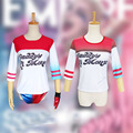 Harley Quinn Cosplay Costumes T-shirt Harley Quinn Shirt Suicide Squad Cosplay Costume For Girls Movie Carnival Party  T-shirt