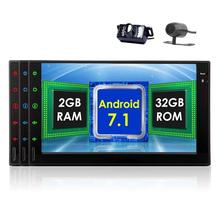 "Front&Backup Cameras Octa Core Car Stereo 2din 7"" Android 7.1 GPS Navigation in Dash Autoradio Tablet Wifi/USB/SD Head Unit"