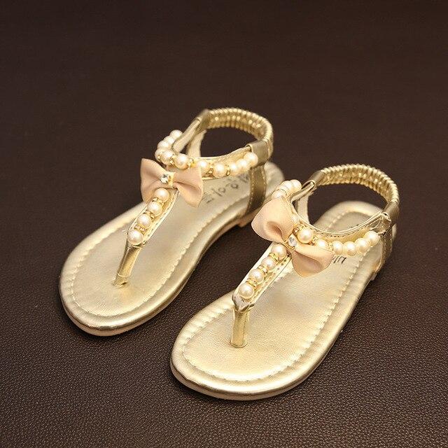 33e2a739 Nuevas Muchachas Del Verano de LA PU Sandalias de Cuero Zapatos Para Niños  Pisos con Tacones