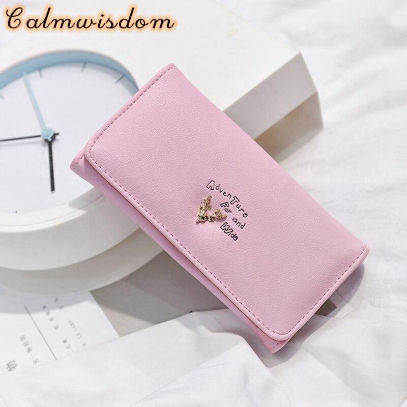Calmwisdom Women Wallet Female Long Clutch Lady Walet Portomonee Rfid Luxury Brand Money Bag Hasp Coin Purse