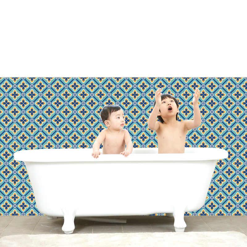 % 12 cái/lốc Retro Gạch Dán Tường Phòng Tắm Nhà Bếp Trang Trí Keo Chống Thấm Nước PVC Dán Dán Tường Nhà Bếp Đường Dây Thắt Lưng cửa
