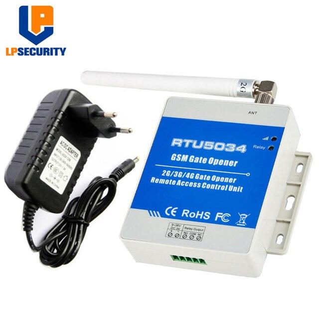 LPSECURITY GSM 게이트 오프너 릴레이 스위치 원격 액세스 제어 무선 도어 오프너 무료 전화 킹 비둘기 RTU5034