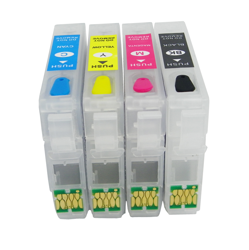 New T220 XL Refillable Ink cartridge for Epson WF-2630 WF-2650 WF-2660 WF-2750 WF-2760 XP-320 XP-420 XP-424 With Cartridge chips refill inkjet cartridges european area t27 xl for epson wf3620dwf wf 3620 wf3620 wf3621dwf wf 640dtwf wf 3640 wf3640 wf 3640
