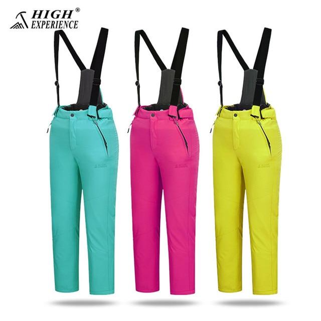 a859a0dc6ba3 High Experience Ski Pants For Kids Girls Warm Winter Pants Boys ...