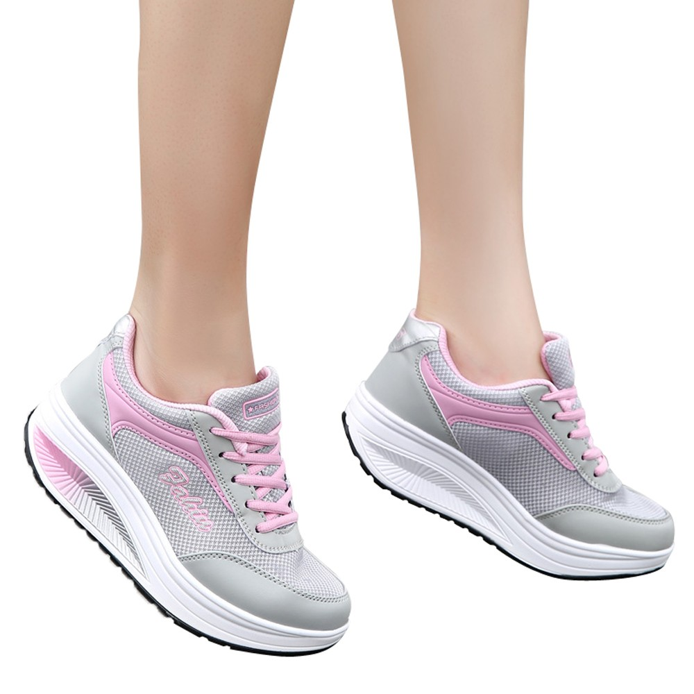 Perimedes new warmer Women sneaker Mesh Heightening Shoes Soft Bottom Rocking Sneakers female girls soft  running Shoes#g25