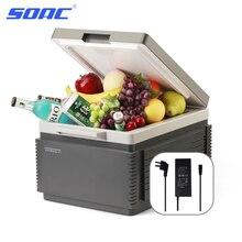Двойной холодильник миниый 96W, 220/12V портативный холодильник 12L охладитель морозильника холодильника алюминиевый миниый дом перемещения автоматический Холодильник