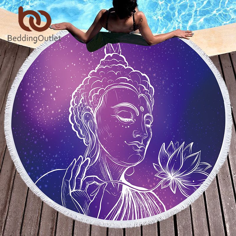 BeddingOutlet Buddha Large Beach Towel For Adults Kids