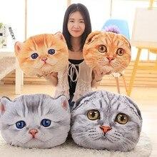 40 см 3D подушка, подушка в форме животного, кошки, Автомобильная подушка, креативная Подушка для сна, ПП хлопок, наполнитель, подушка для сиденья, детский подарок на день рождения, B320