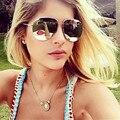 Mezcla de viento 2017 new llegaron mujeres piloto gafas de sol de moda las mujeres diseñador de la marca de recubrimiento espejo gafas de sol mujer gafas de sol uv400