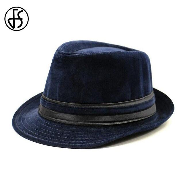c8315d11f88 FS British Winter Corduroy Striped Camouflage Vintage Fedora Hat Men Felt  Ladies Fashion Wide Brim Women Jazz Trilby Hats