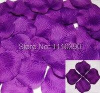 Wholesale 1000 Pics Purple Silk Rose Petals Artificial Flower Petals Bulk Roses Petal For Wedding Party
