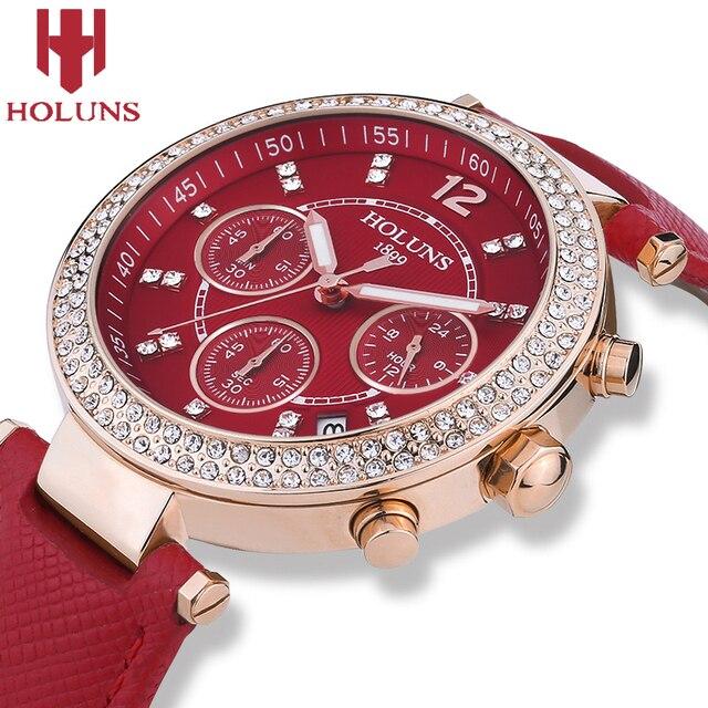 2016 Big dial hot sale holuns quartz-watch ladies watches,waterproof shock resistant Ceramic black white women watches