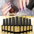 Saviland 10ml Metallic Mirror Effect Nail Gel Soak Off UV Gel Lamps Gel Metal Color Nail Art Top Manicure Tools Pick 1