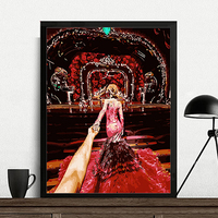 MaHuaf A550 Max Size 60x75cm Frameless DIY Oil Painting By Numbers DIY Digital Oil Painting On
