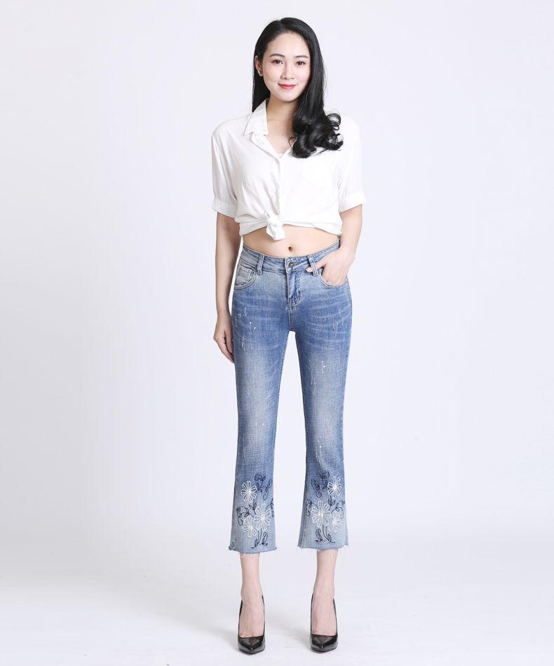 KSTUN Women Jeans with Emboridered Retro Blue Stretch Flare Pants Boot Cut High Waist Gloria Jeans Vintage Plus Size Femme Mujer 11