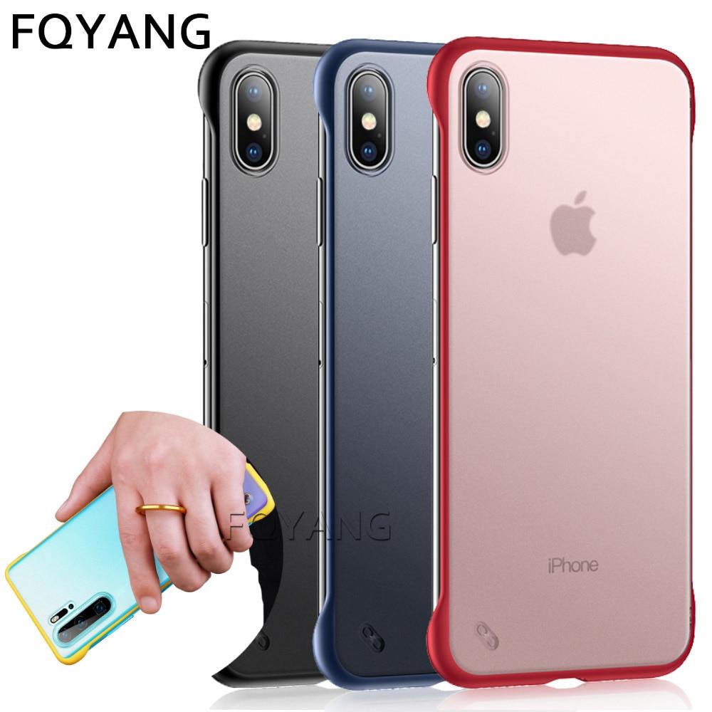 Frameless Case For coque iphone 8Plus Transparent Coque for x xsmax xr xs 7 6s 6 plus funda max Capa cover