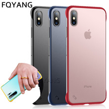 Frameless Case For coque iphone 8Plus Transparent Coque for x xsmax xr xs 7 6s 6 plus funda max Capa cover