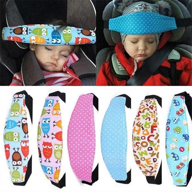 Bande de fixation bébé enfant tête monture de support ceinture de couchage siège de voiture sommeil sieste support ceinture bébé poussette sécurité porte siège ceinture