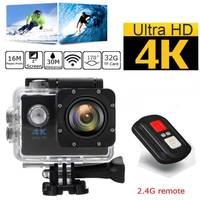 Original 4K Ultra HD Waterproof Sports Camera WIFI Helmet Mini DV Camera With Carry Case Bundle